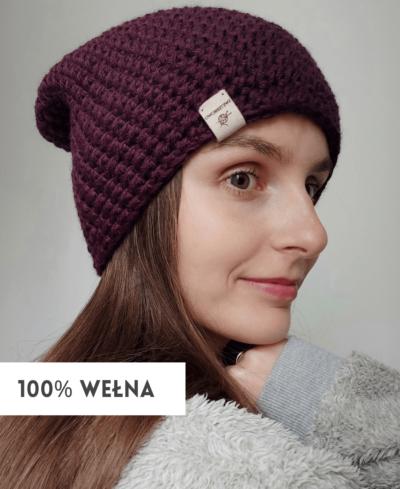 czapka wełniana handmade