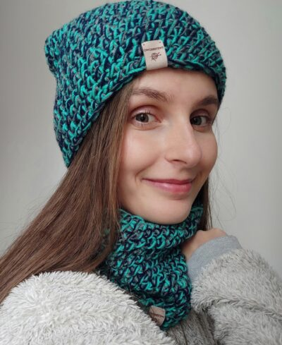 komplet zimowy handmade