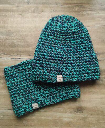 zimowy komplet handmade