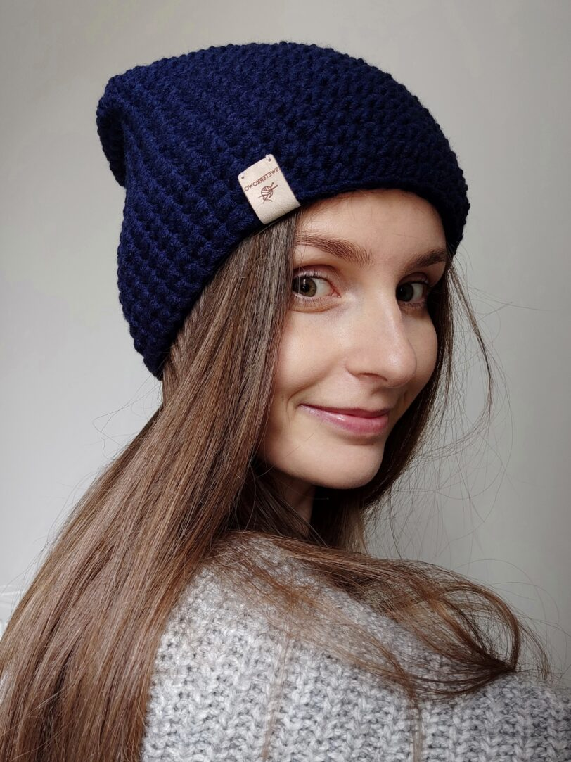 czapka zimowa handmade