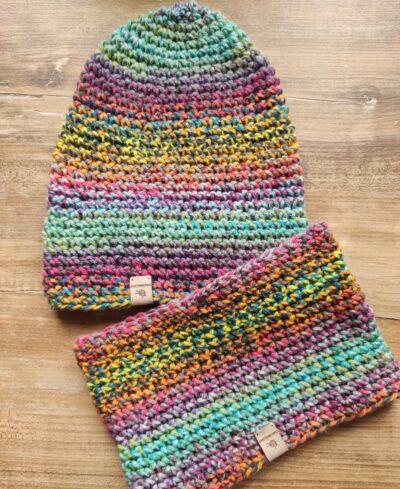 Komplet komin i czapka handmade
