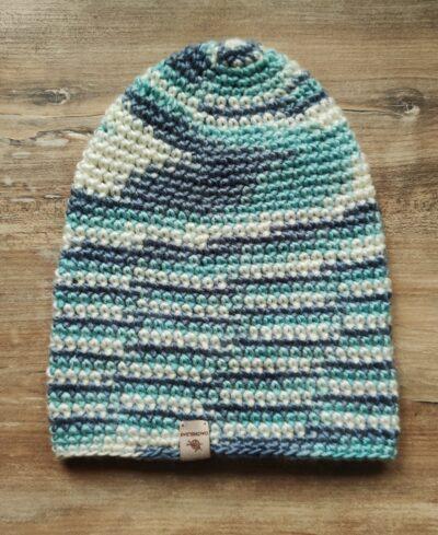 wełniana czapka zimowa handmade